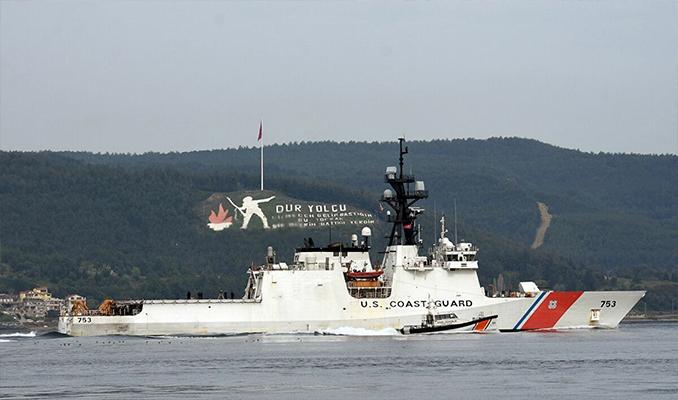 ABD Sahil Güvenlik gemisi 'USS Hamilton' Çanakkale Boğazı'ndan geçti