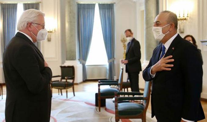 Çavuşoğlu, Almanya Cumhurbaşkanı ile görüştü: Köklü iş birliği vurgusu