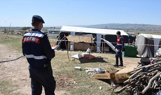 Mevsimlik işçi çadırına Kovid karantinası